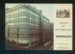 Barcelona *Centro De Oftalmología Barraquer* Ed. Fisa. Dep. Legal B. 4655-XVIII. Matasellos. - Publicidad