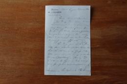 Lettre Autographe  Maison De L'empereur  Aide De Camp Napoleon III 1866 General - Autographes