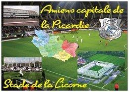 Stade De Football - Stade De La Licorne Amiens - Amiens Capitale De La Picardie - Carte Géo De La Somme - Cpm - Vierge - - Soccer