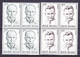 1971 Nr 1603-04** Zonder Scharnier,blokjes Van 4.Jules Bordet & Stijn Streuvels. - Belgique