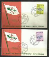 ITALIA REPUBBLICA ITALY REPUBLIC 1972 EUROPA CEPT SERIE COMPLETA SET FDC MOSTRA DEL FRANCOBOLLO A NAPOLI - 6. 1946-.. Repubblica