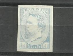 364-SELLO CLASICO Nº156 EDIFIL.1 Real Azul 1873. Carlos VII - Carlista FALSO FILATELICO.SPAIN STAMPS CLASSIC. GUERRAS CA - 1873-74 Regencia