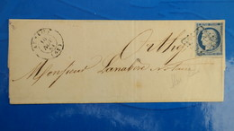 Ceres N° 4 Obliteration Grille Sur Lettre 1854 Pour Orthez Pyrénées Atlantiques - Marcophilie (Lettres)