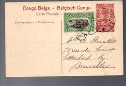 CONGO - ENTIER STIBBE 43 - VUE 52 CHASSE ZEBRE - ELISABETHVILLE Type 5 - 1921- PL8 - Ganzsachen
