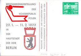 """DDR Privatganzsachen PP 016 D2/004 """"Bauwerke-10Pf.grün-Neptunbrunnen"""",""""BM-Ausstellung VR Polen"""", Ungebraucht - Privatpostkarten - Ungebraucht"""