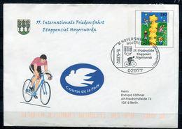 """Germany 2002 Plusbrief Friedensfahrt Mi.Nr.USo20 I Wz.1Ymit Privaten Zudruck 55.Intern.Friedensfahrt""""mit SST""""H..""""1 Beleg - [7] République Fédérale"""