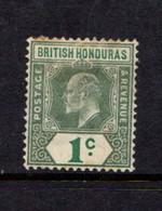 BRITISH  HONDURAS    1902    1c  Grey  Green     Slight Stain On  Reverse   Hence  Price    MH - British Honduras (...-1970)
