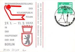 """DDR Privatganzsachen PP 016 D2/004 """"Bauwerke-10Pf.grün-Neptunbrunnen"""",""""BM-Ausstellung VR Polen"""", SSt 27.1.77 BERLIN - [6] République Démocratique"""