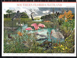 USA 2006 Mi Nr 4171 - 4180 Nr 8; Southern Florida Wetland: Bird, Flower, Butterfly, Eagle, Ibis, Orchid - Verenigde Staten