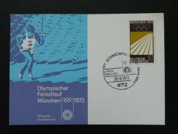 Carte Maximum Card Jeux Olympiques Olympic Games Munich Munchen 1972 Schweinfurt (41) - [7] République Fédérale
