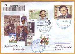 2019 Moldova Moldavie  Grigore Vieru. Poet, Writer. In Memory Used - Scrittori