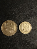 2 Pièces 10 Et 20 Francs Turin 1933 1938 Argent - France