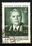 URSS. N°4738 Oblitéré De 1980. Maréchal Vassilevski. - Militaria
