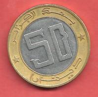 50 Dinars , ALGERIE , Acier Et Bronze , 1992 , N° KM # 126 - Algerije