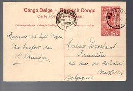 CONGO - ENTIER STIBBE 43 - VUE 1 - MATADI 1920  TB - PL8 - Entiers Postaux