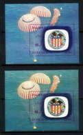 727a Fujeira MNH ** 2 Nuances (color Error) Mi Bloc N° 98 B Apollo 16 Espace (space) Non Dentelé (imperforate) - Space