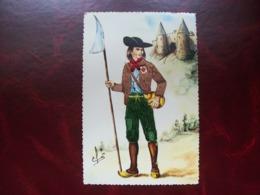 Carte Postale Brodée: Chouan - Brodées