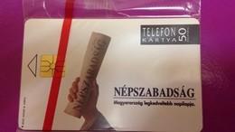 Cartes Téléphonique Hongrois Népszabadsàg 1992 - Phonecards