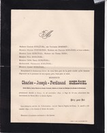 CINEY Charles SCHLÖGEL Ancien Notaire 63 Ans 1890 époux BOSERET Familles PONTHIERE NEYS - Overlijden
