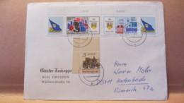 """DDR: Brief Mit 20/10 Pf  """"FDJ XII. Parlament Berlin 1985"""" U. 5 Pf SOZPHILEX 85 Aus Dresden 25.11.85 Knr: W Zd 634/632 OR - [6] République Démocratique"""