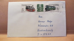 """DDR: Brief Mit 15/20 Pf """"Schmalspurbahnen In Der DDR"""" Aus Dresden Nach Kadenbach 12.4. 89 Knr: W Zd 557 (2792/3) - [6] République Démocratique"""