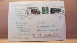 """DDR: Brief Mit 15/20 Pf """"Schmalspurbahnen In Der DDR"""" Traditions-Fahrt Freital-Heinsberg  22.9.83 Knr: W Zd 557 (2792/3) - [6] République Démocratique"""