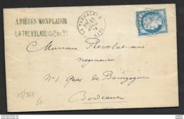 Charente Infre-Lettre-Cad Type 16 De La Tremblade Sur N°60C - Marcophilie (Lettres)