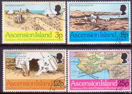 ASCENSION 1977 SG #229-32 Compl.set Used Visit Of Professor Gill - Ascension