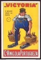 "Rotulo ""VICTORIA"" O Melhor VINHO DO PORTO. Companhia Vinicola Portugueza. Old Label PORT WINE Portugal - Etiquettes"