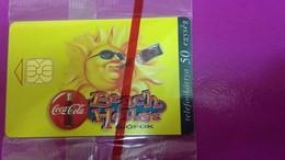 Cartes Téléphonique Hongrois Coca Cola  Beach House Siofok 1997 - Télécartes