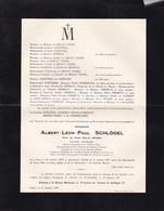 CINEY GENART Albert SCHLÖGEL Veuf INCOUL Notaire Bourgmestre 1870-1959 Région De Dinant Familles THORN BIDLOT - Overlijden