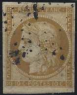 1849 - 1850 Céres N°1a 10c Bistre Brun Oblitéré étoile De Paris Belles Marges TTB Signé Calves - 1849-1850 Ceres