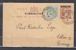 Post Card Van Gibraltar South District Naar Germany - Gibraltar