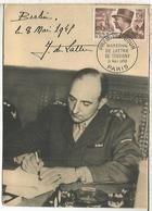 FRANCIA PARIS MAXIMA MARECHAL DE LATTRE DE TASSIGNY WW2 SEGUNDA GUERRA MUNDIAL MILITAR - Militaria