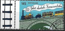 2014  Allem. Fed.  Deutschland MI. 3070 FD- Used .175 Jahre Deutsche Ferneisenbahn. - [7] République Fédérale