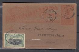 Carte Postale Van Boma Naar Naumburg (Saale) Germany - République Du Congo (1960-64)