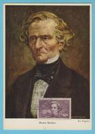 J.M. 22 - Carte Maximum Ou Carte Philatélique - Compositeur - N° 56 - H. BERLIOZ - Musique