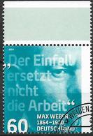 2014  Allem. Fed.  Deutschland MI. 3071 FD- Used 150. Geburtstag Von Max Webe - [7] République Fédérale