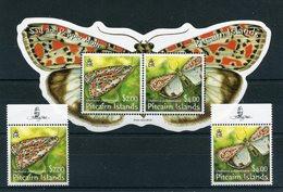 """Pitcairn - Block Nr. 47 Und Mi.Nr. 729 / 730 - """"Schmetterlinge"""" ** / MNH (aus Dem Jahr 2007) - Timbres"""