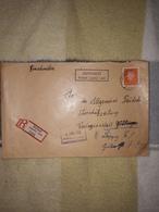Deutsches Reich Landpost Einschreibe Brief 1932 Jannowitz Ruhland (Lausitz)Land Göttingen Weiterleitung Leipzig Lot 159D - Allemagne