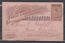 Carte Postale Van Elisabethville Naar Munchen Allemagne Cote Reserve - 1894-1923 Mols: Covers