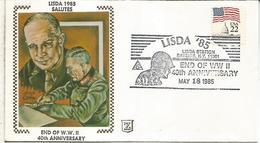 ESTADOS UNIDOS USA 1985 40 AÑOS FIN DE LA SEGUNDA GUERRA MUNDIAL WW2 MILITAR - WW2 (II Guerra Mundial)