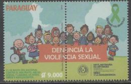PARAGUAY, 2016, MNH,CHILDREN, NATIONAL DAY AGANIST CHILD ABUSE, VIOLENCE AGAINST CHILDREN, HUMAN RIGHTS,1v+TAB - Childhood & Youth