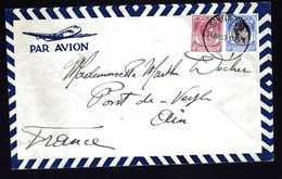 SINGAPOUR Et MALAISIE  3 Lettres Pour USA Et Pont De Veyle ( Ain ) - Singapour (1959-...)