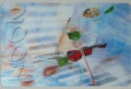 Petit Calendrier  Poche Plastifié  2001 Nogent Le Rotrou - Format Carte Bleue - Musique Violon - Calendriers
