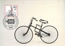 ALLEMAGNE BUND CARTE MAXIMUM NUM.YVERT 1076  HISTOIRE DE LA BICYCLETTE - [7] République Fédérale