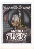 PUB Publicité GRAND ARMAGNAC St JACQUES Dans Toutes Les Caves J.Chapoulié  Condom Gers *PRIX FIXE - Advertising