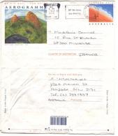 AUSTRALIE AUSTRALIA Aérogramme Aerogram Leightonfield Vers France 1995 + Flamme We Keep You Moving - Aerogrammes