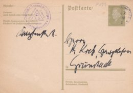 Third Reich Postal Stationary With Cachet From Jugendherberge In Kaiserslautern P/m Kaiserslautern 1933  (G94-43) - Allemagne