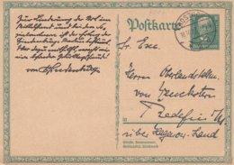 Germany Postal Stationary Posted Rostock 1927 (G94-43) - Allemagne